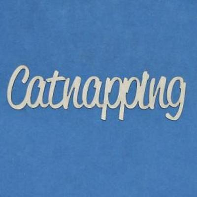 Chipboard A2Z Scraplets Catnapping Word
