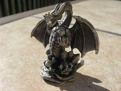 DRAGON in ATTACK goth NIB SOLID PEWTER summit collection 6482