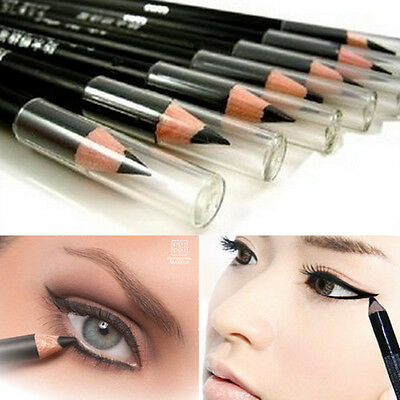 2PCS Waterproof  Eye Liner Beauty Cosmetic Smooth Black Shade Eyeliner Pencil