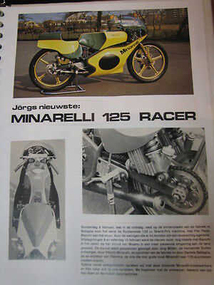 Clipping / artikel Minarelli 125 Racer (NED/GER) 10 pages