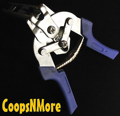 Auto Feed Hog Ring Pliers 11/16 = 1/4 Circle Poultry Shrink Bag Wire Cage Pliers