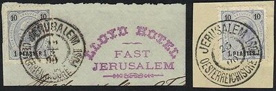 Palestine-Austrian Offices 1899 Tying 1 Piaster On 1 Para Stiehle Type 547 With