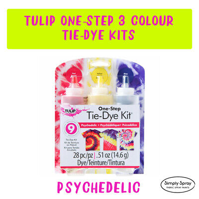 NEW Tie Dye Kit Tulip DIY Medium Kit -  PSYCHEDELIC dyes up to 9 T-shirts