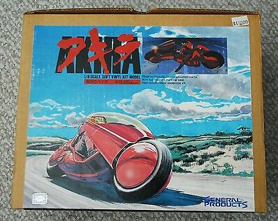 AKIRA Kaneda Bike Motorcycle 1/8 Vinyl Model Kit from General Products RARE!!!