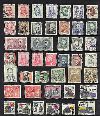 CZECHOSLOVAKIA Old Stamp Collection  USED REF:F460