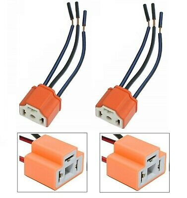 Wire Pigtail Female 9003 Hb2 H4 Hs1 Two Harness Halogen Hid Ceramic Light Socket