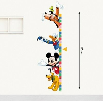 Kinder Wandtattoo Disney Messlatte Mickey Mouse Kinderzimmer Aufkleber Sticker