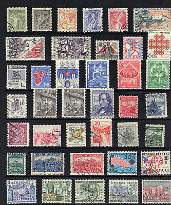 CZECHOSLOVAKIA Old Stamp Collection  MAJORITY USED REF:F462