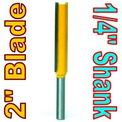 """1 pc 1/4"""" SH 2"""" Extra Long Straight Router Bit sct-888"""