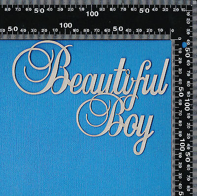 A2Z Scraplets Chipboard Beautiful Boy Scripty Word