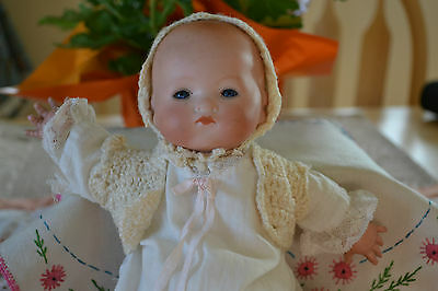 """ARMAND MARSILLE DREAM BABY APPROX. 11-12"""" TALL CLOTH BODY CELLULOID HANDS"""