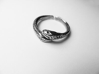 Roman Snake ring, In English pewter