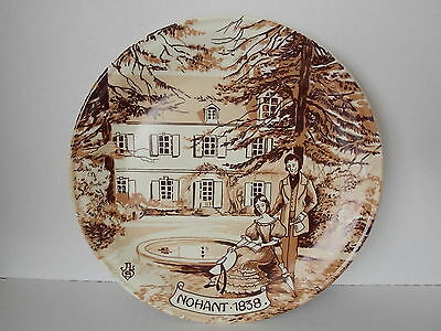Vintage Antique Collectable Retro Porcelain Castleroux France Plate NOHANT 1838