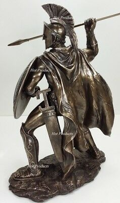 "EXTRA LARGE 20"" LEONIDAS Greek Warrior SPARTAN KING Statue Sculpture Figurine"