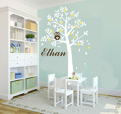 Wall Stickers owl tree xlarge size Decor vinyl Decal Removable Nursery Kids Baby