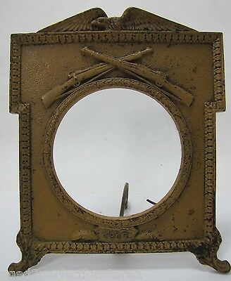 Antique American Eagle Rifles Cast Iron Frame old paint ornate 1917 Military