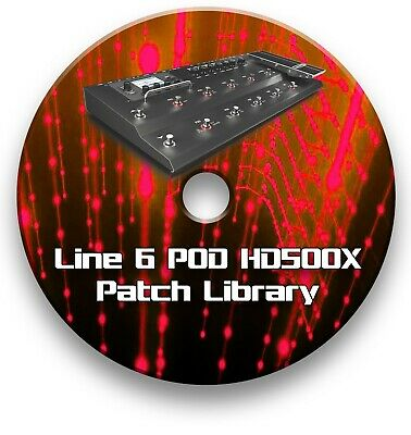 Line 6 Pod Hd500X Pre-Programmed Patches Cd Over 4400! - Guitar Effects Pedals