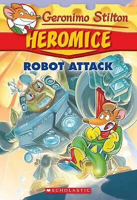 Robot Attack by Geronimo Stilton Paperback Book Free Shipping!