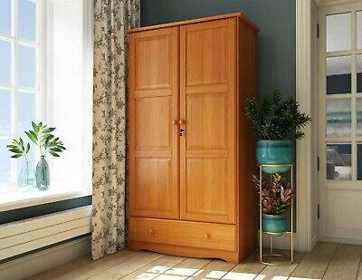 100% Solid Wood Universal Wardrobe/Armoire/Closet by Palace Imports, 3 Colors