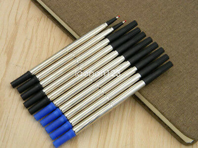 5PCS blue & 5PCS black fit For style metal 0.7mm Rolleball Pen Ink Refills