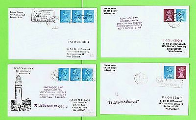 GB Collection of four Paquetbot Covers inc Kowloon Bay