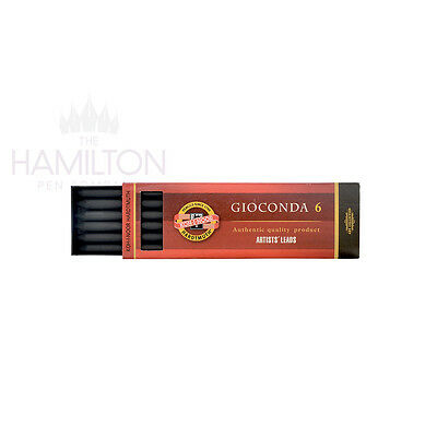 KOH-I-NOOR GIOCONDA GRAPHITE ARTISTS LEADS - Packs of 6 leads in various grades
