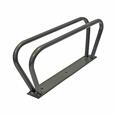 Bicycle mountain bike cycle floor wall mounted stand rack parking rail lock