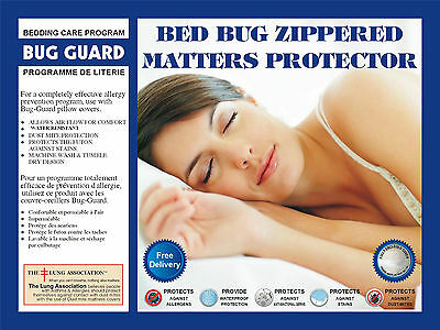 Waterproof Bed bug Anti allergy Dust mite mattress cover encasement protectors