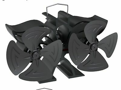 New 2018 Mini 4 Blade Heat Powered Stove Fan By EcoFlow With Free Thermometer