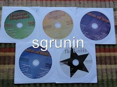 5 Cdg Karaoke Lot 1950's-1970's Classic Rock Oldies Hits- Cd+G Eagles