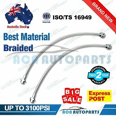 """For Nissan Patrol Extended Stainless Braided Brake Hose Lines GQ GU 2""""-6"""" Lifts"""