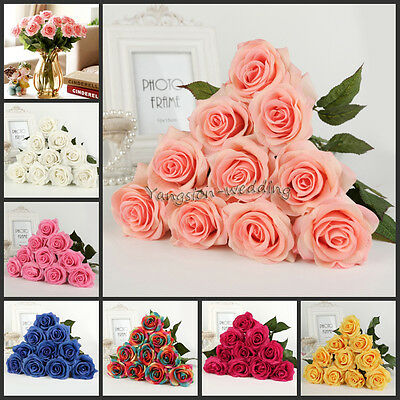 20Pc 7cm Real Latex Touch Rose Flowers Flower Wedding Home Design Bouquet Decors