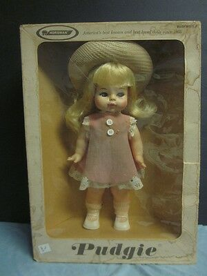 HORSMAN PUDGIE DOLL STYLE NO. 1210 IN ORIGINAL BOX