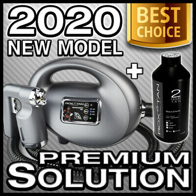 New - Spray Tan Machine Kit - Gun Metal - Bonus Solution - Hvlp 700 Tanning Unit