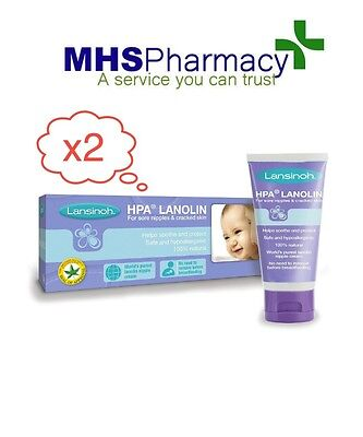 Lansinoh HPA Lanolin Cream 40ml x 2 packs