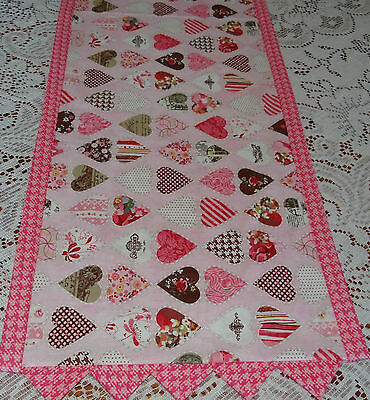 Table Runner Topper ~ Hearts for Valentine ~ Pink Table Decoration