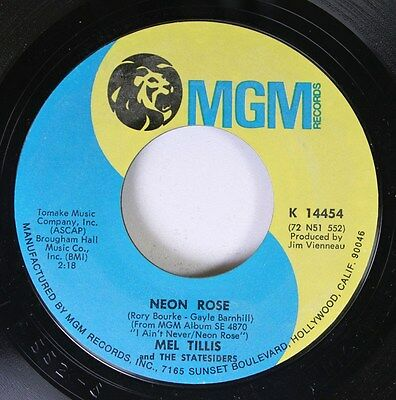 Country 45 Mel Tillis And The Statesiders - Neon Rose / It'S My Love (And I'M Go
