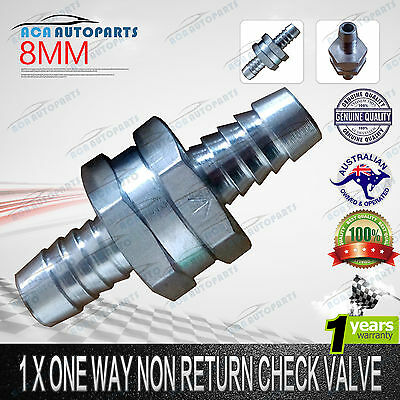 "5/16"" 8mm Aluminium One Way Non Return Check Valve Fuel Petrol Diesel Water Oil"