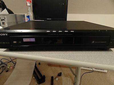 Sony DVP-NC80V DVD Player 5 disc changer CD MP3 progressive scan Black