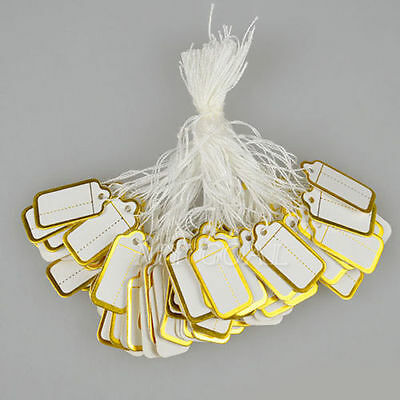 500 Gold  Strung String Tags Swing Price Tag Tickets Jewelry Tie On Label