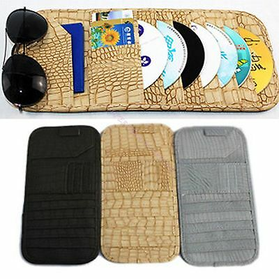 Crocodile Vehicle Car Sunshade Visor 12 Slot Holder Cd Dvd Disc Storage Pouch