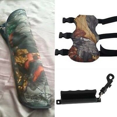 "Archery arrows 18inch Quiver Bag, Bow Puller & 7.5"" inch Arm Guard Deal"