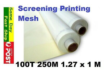 100t 250M Mesh for Silk Screen Printing Size: 127 x 100 cm AU local fast ship