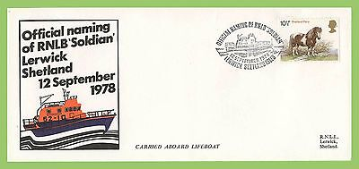 GB 1978 Official naming of RNLB 'Soldian' Commemorative Cover