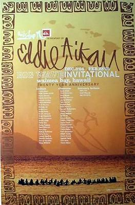 2004-2005 EDDIE Aikau WOULD GO OFFICIAL POSTER SURFING contest HAWAII Quiksilver