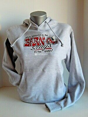 """McCormick Farmall""""What Happens in the Barn,Stays in the Barn""""Gray Women's Hoodie"""
