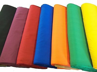 "Broadcloth Fabric 45"" Cotton Polyester Blend - Sold by the Yard (39 Colors)"