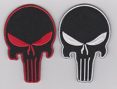 LOT OF TWO PUNISHER SKULL ARMY MORALE MILSPEC PATCH ISATACTICAL SWAT VELCRO