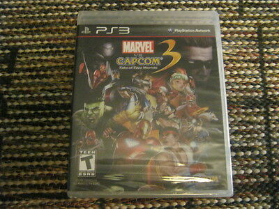 MARVEL VS CAPCOM FATE OF TWO WORLDS 3 PS3 BRAND NEW