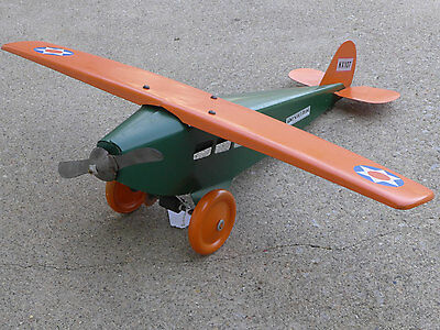 1920s Steelcraft NX 107 Army Scout Airplane Pressed Steel Old Restoration
